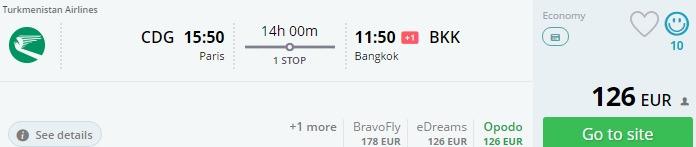 flights from paris to bangkok