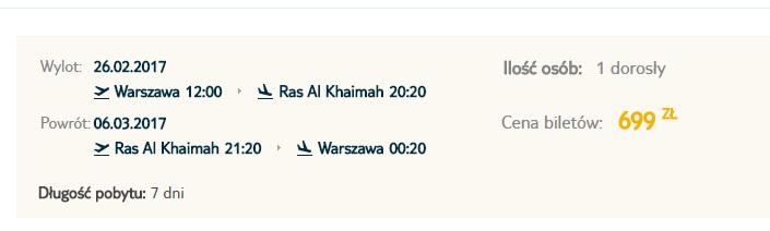 flights from poland to united arab emirates