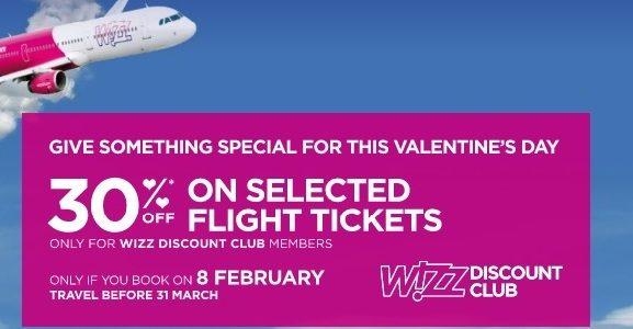 wizzair valentine`s day sale