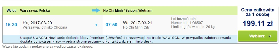 Cheap flights to VIETNAM from Warsaw