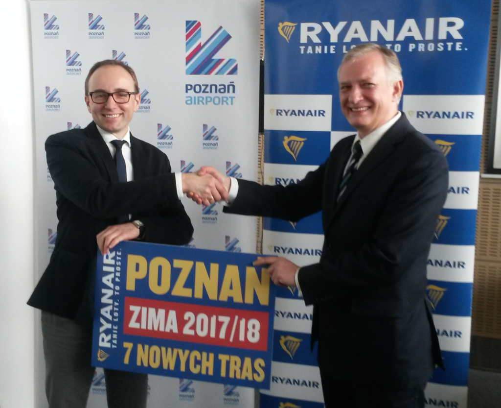 RYANAIR Announces New Base in POZNAN