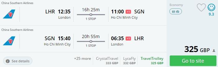 cheap flight tickets to vietnam from london