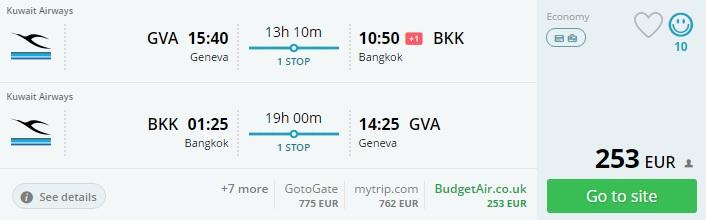cheap flights to bangkok from geneva