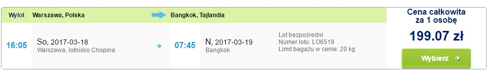 cheap flights to bangkok from warsaw