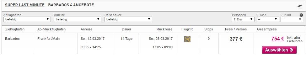 cheap flights to barbados from frankfurt