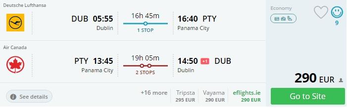 cheap flights to panama from dublin