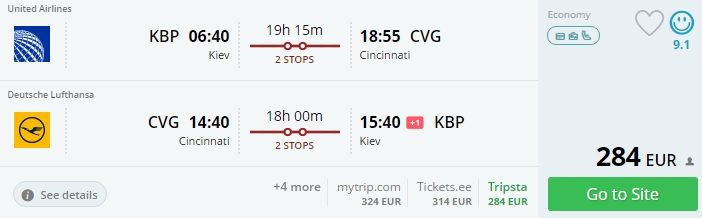 cheap flights to usa from kiev