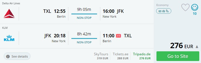 direct flights to new york from berlin
