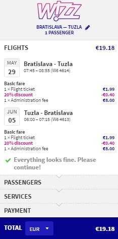 flights from bratislava to bosnia and herzegovina