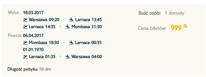flights from warsaw to kenya
