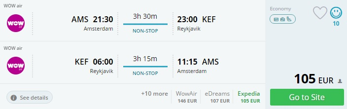 flights to iceland from amsterdam