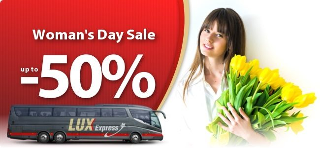 lux express woman`s day sale