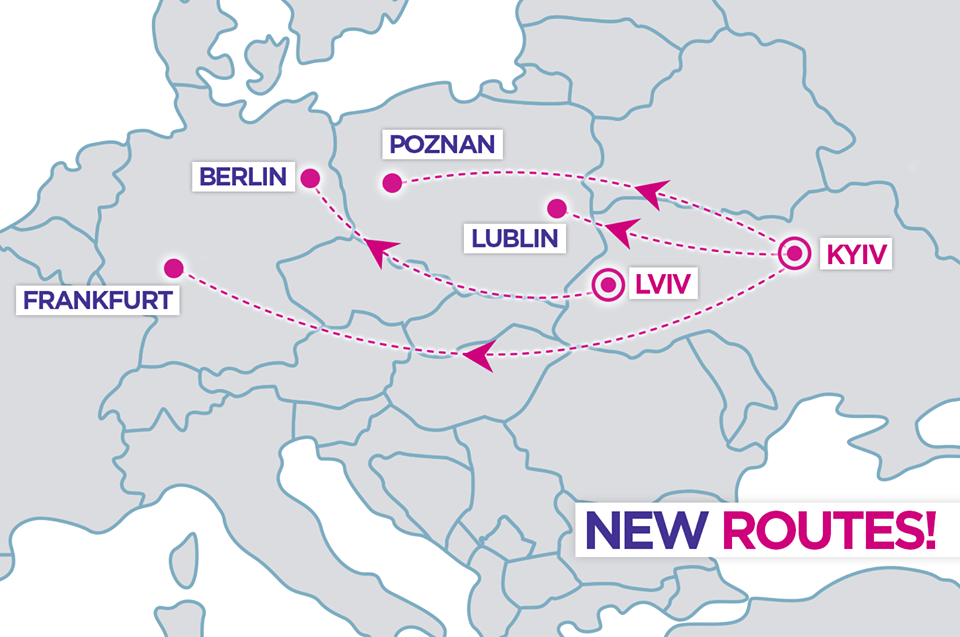 wizzair new routes from ukraine