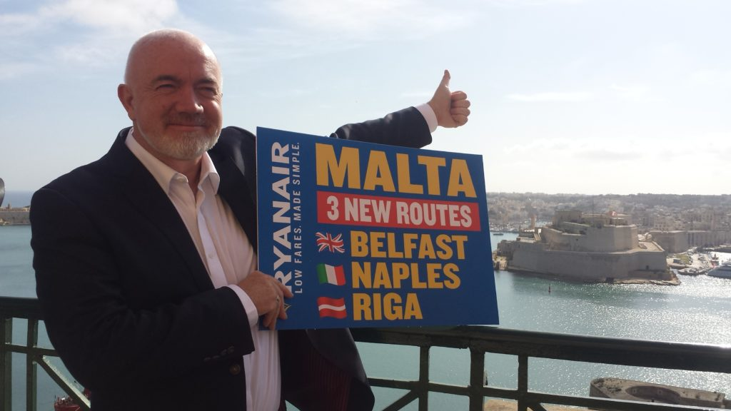 ryanair new routes to malta