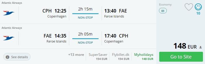Cheap flight tickets to FAROE ISLANDS from Copenhagen