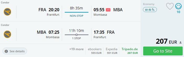 Cheap flights from Frankfurt to KENYA