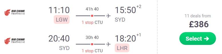 Cheap flights from London to SYDNEY AUSTRALIA