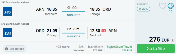 Cheap flights to the United States from Scandinavia