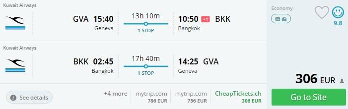 cheap flights from geneva to thailand