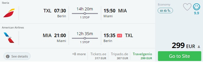 cheap flight tickets to miami from berlin