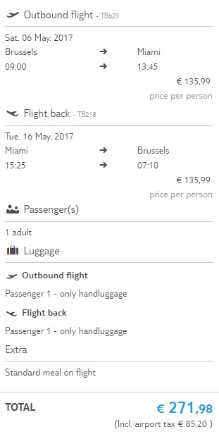 cheap flight tickets to miami from brussels