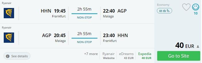 cheap flights to malaga from frankfurt