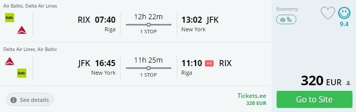 cheap flights to new york from latvia