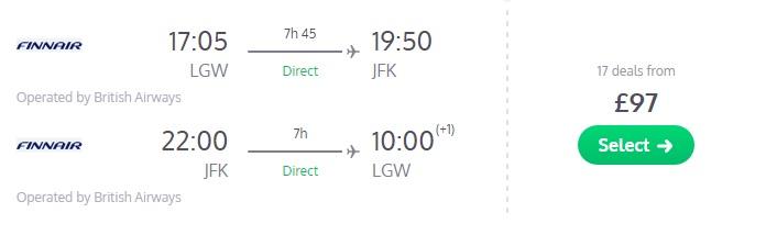 error fare flights london new york