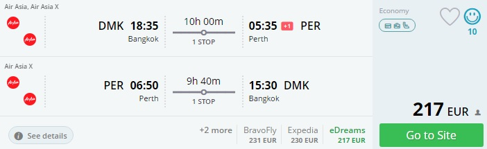 flights from lithuania to thailand australia