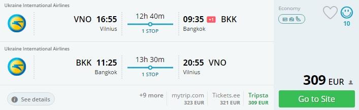 flights to thailand sri lanka from vilnius