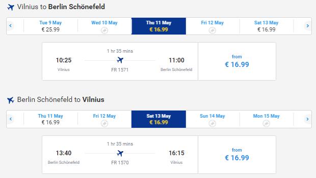Flights From Vilnius Riga To Berlin From 33 Both Ways