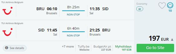 last minute fly brussels cape varde