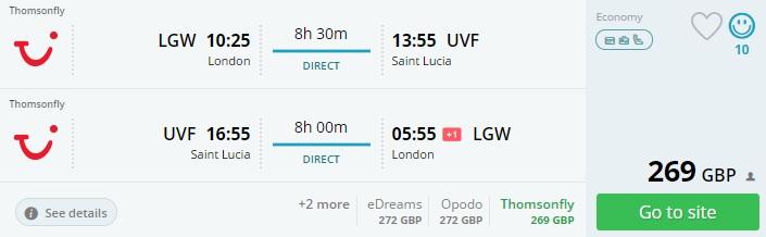 Cheap flights London SAINT LUCIA