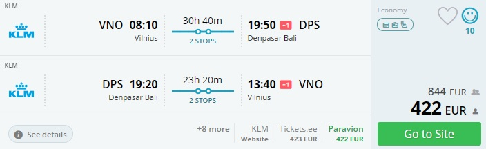 cheap flight tickets to bali from baltic states