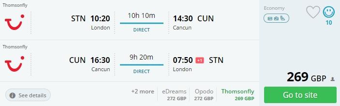 cheap flight tickets uk cancun