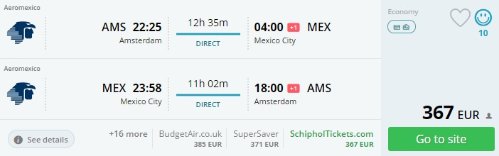 Cheap Flights From Amsterdam To Mexico For 367 Travelfree