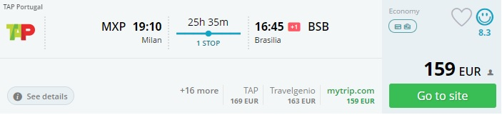 cheap flights from europe to brazil