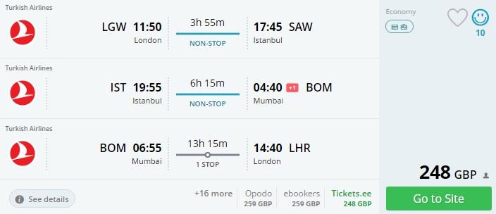 cheap flights from london to mumbai