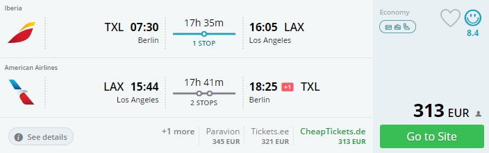 cheap flights to los angeles from berlin