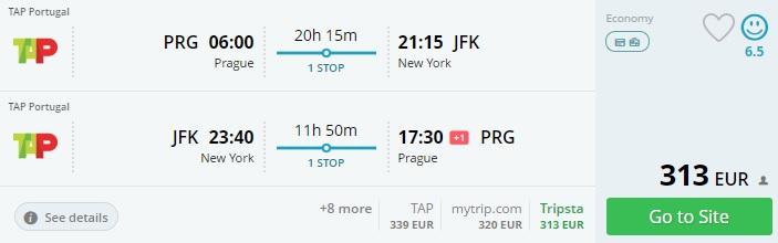 cheap flights to new york from prague