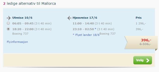 cheap flights to palma mallorca from oslo