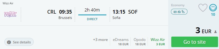 cheap flights to sofia from brussels