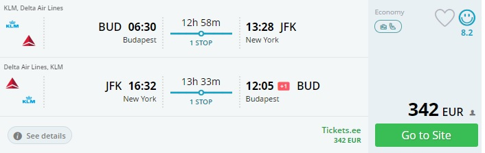christmas flights to new york from budapest