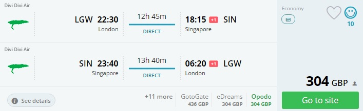 direct flights from london to singapore