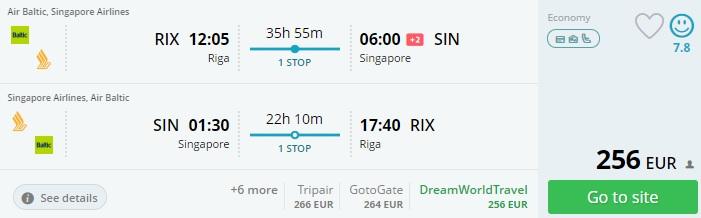 flights from riga to bali