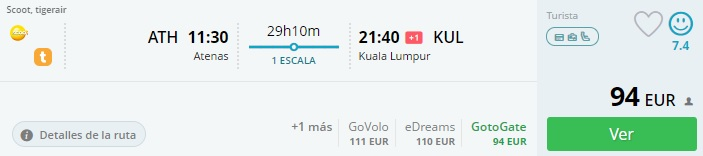 flights from athens to malaysia