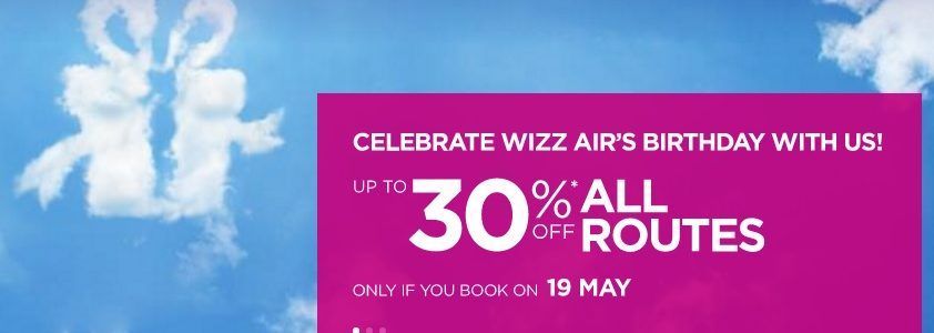 wizzair birthday sale
