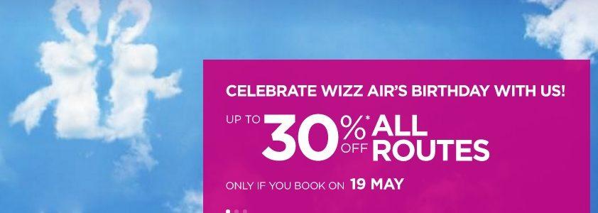 wizzair birthday sale