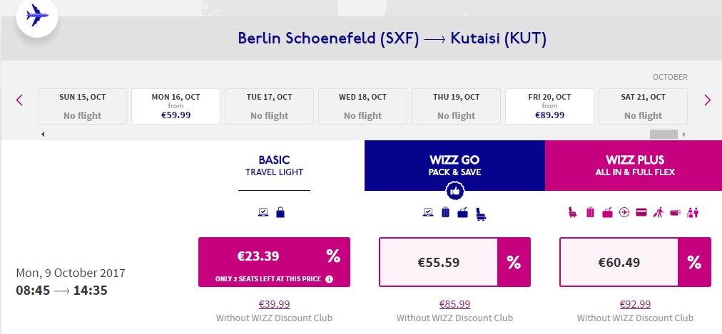 wizzair birthday sale discount