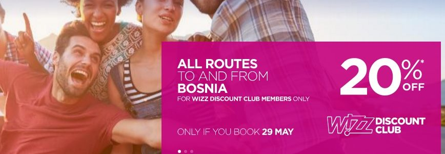 wizzair bosnia sale
